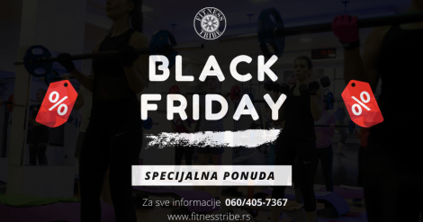 Black Friday akcija Fitness Tribe